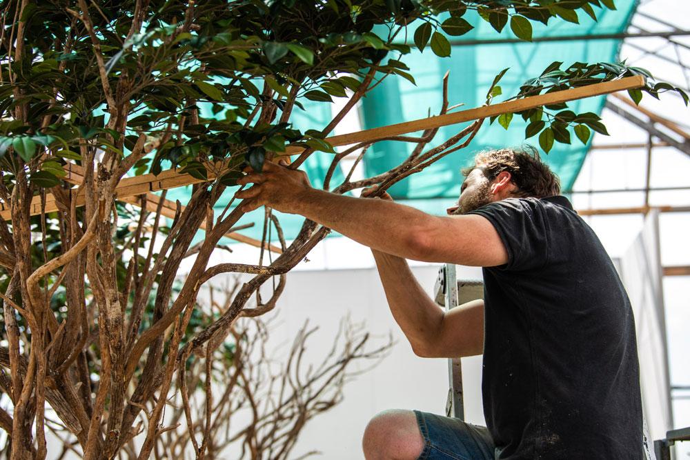Handgemaakte kunstboom door peter van Son
